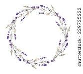 wreath  lavender  watercolor | Shutterstock .eps vector #229725322