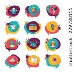 halloween bubble speech banner... | Shutterstock .eps vector #229730155