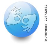 icon  button  pictogram with... | Shutterstock . vector #229732582