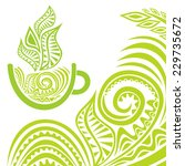green tea vector illustration | Shutterstock .eps vector #229735672