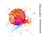 Colorful Basket Ball With Spots ...