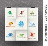 collection of vector logo...   Shutterstock .eps vector #229739392
