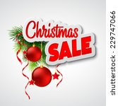 christmas sale. vector template | Shutterstock .eps vector #229747066