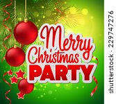 christmas party flyer. vector... | Shutterstock .eps vector #229747276