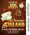 treasure island party flyer.... | Shutterstock .eps vector #229747312