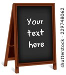 chalkboard sidewalk sign  dark... | Shutterstock .eps vector #229748062
