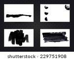 set of business card templates... | Shutterstock .eps vector #229751908