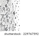 black numbers vector background ... | Shutterstock .eps vector #229767592
