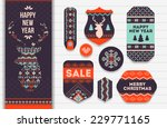 knitting pattern elements for... | Shutterstock .eps vector #229771165