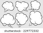 talking bubbles  | Shutterstock .eps vector #229772332