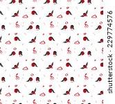 bullfinch seamless pattern | Shutterstock .eps vector #229774576