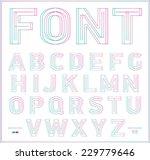 3d stereo effect type font.... | Shutterstock .eps vector #229779646