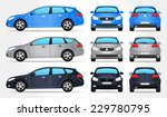 vector car   side   front  ... | Shutterstock .eps vector #229780795