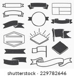 set of hand drawn blank vintage ... | Shutterstock .eps vector #229782646