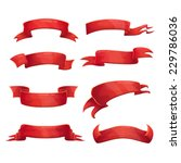set of red cartoon ribbons on... | Shutterstock .eps vector #229786036