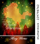 Map of Alzey in Christmas Design
