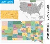map of south dakota state... | Shutterstock .eps vector #229799686