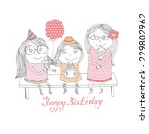happy birthday greeting card... | Shutterstock .eps vector #229802962