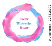pink and blue watercolor frame