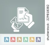 mail with a medical document | Shutterstock .eps vector #229818382