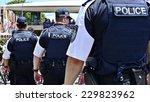 australian police line up at... | Shutterstock . vector #229823962