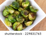 brussels sprouts roasted with... | Shutterstock . vector #229831765