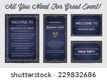 great style invitation in art... | Shutterstock .eps vector #229832686