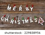 merry christmas greeting... | Shutterstock . vector #229838956