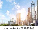 modern business center in... | Shutterstock . vector #229845442