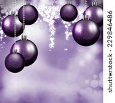 purple baubles this christmas... | Shutterstock . vector #229846486