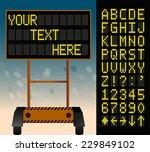 electronic bulletin board  put...   Shutterstock .eps vector #229849102