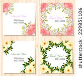 wedding invitation cards with... | Shutterstock .eps vector #229851106