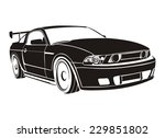sport car vector | Shutterstock .eps vector #229851802