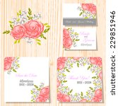 wedding invitation cards with... | Shutterstock .eps vector #229851946