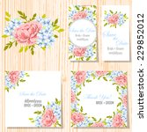 wedding invitation cards with... | Shutterstock .eps vector #229852012
