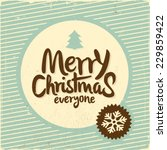 retro vintage merry christmas... | Shutterstock .eps vector #229859422