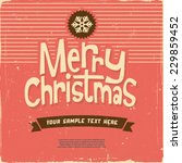 retro vintage merry christmas... | Shutterstock .eps vector #229859452