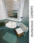 modern green bathroom   Shutterstock . vector #2298595