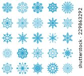 snowflakes vector collection... | Shutterstock . vector #229863292