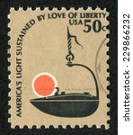 usa  circa 1975   postage stamp ... | Shutterstock . vector #229866232