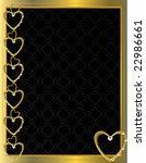 gold heart patterned background ... | Shutterstock .eps vector #22986661