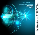 futuristic interface  hud  ... | Shutterstock .eps vector #229874716