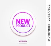 new product circular icon on... | Shutterstock .eps vector #229877872