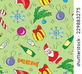 christmas decoration seamless... | Shutterstock .eps vector #229883275