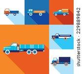 truck cars icon set. modern... | Shutterstock .eps vector #229889842
