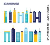 skyscraper building icon set....   Shutterstock .eps vector #229890058