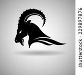 Black Goat Head Vector Design...