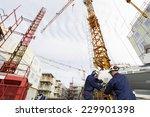 construction workers inside... | Shutterstock . vector #229901398