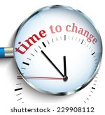 time to change | Shutterstock .eps vector #229908112