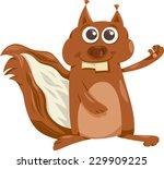 cartoon illustration of funny... | Shutterstock . vector #229909225